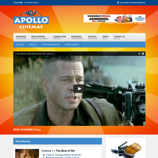 Web Design Apollo Cinemas