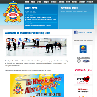 Web Design Bathurst Curling Club