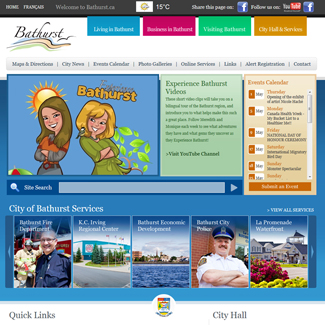 Web Design City of Bathurst