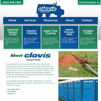 Web Design Clovis Septic