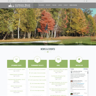 Web Design Gowan Brae Golf Course