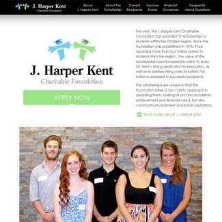 Web Design J. Harper Kent Charitable Foundation