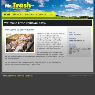 Web Design Mr. Trash