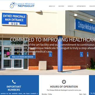 Web Design Clinique Médicale Nepisiguit