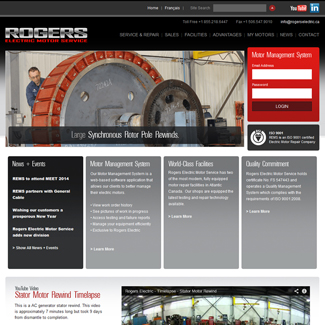 Web Design Rogers Electric Motor Service