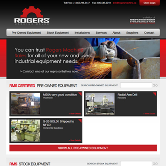 Web Design Rogers Machine Sales