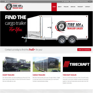 Responsive Web Design Tire 101 & Trailer Sales