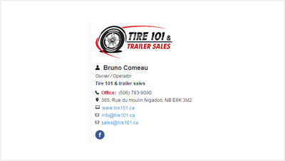 TIRE 101 & TRAILER SALES Email signature